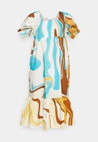HOSBJERG - AGNETHE LONG DRESS - Denní šaty - desert liquid blue - 6