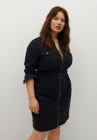 Violeta by Mango - BRITNEY - Denim dress - black denim - 0