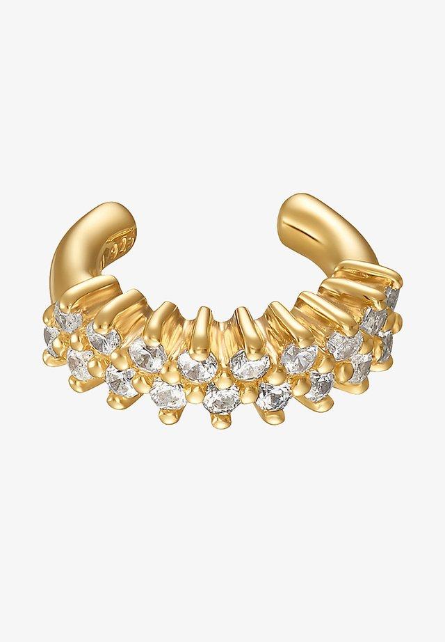 DAMEN-EINZELNER OHRSCHMUCK EAR CUFF 925ER SILBER 18 ZIRKON - Earrings - gelbgold
