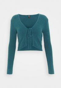 BDG Urban Outfitters - NOORI TIE FRONT CARDI - Vest - dark teal - 0