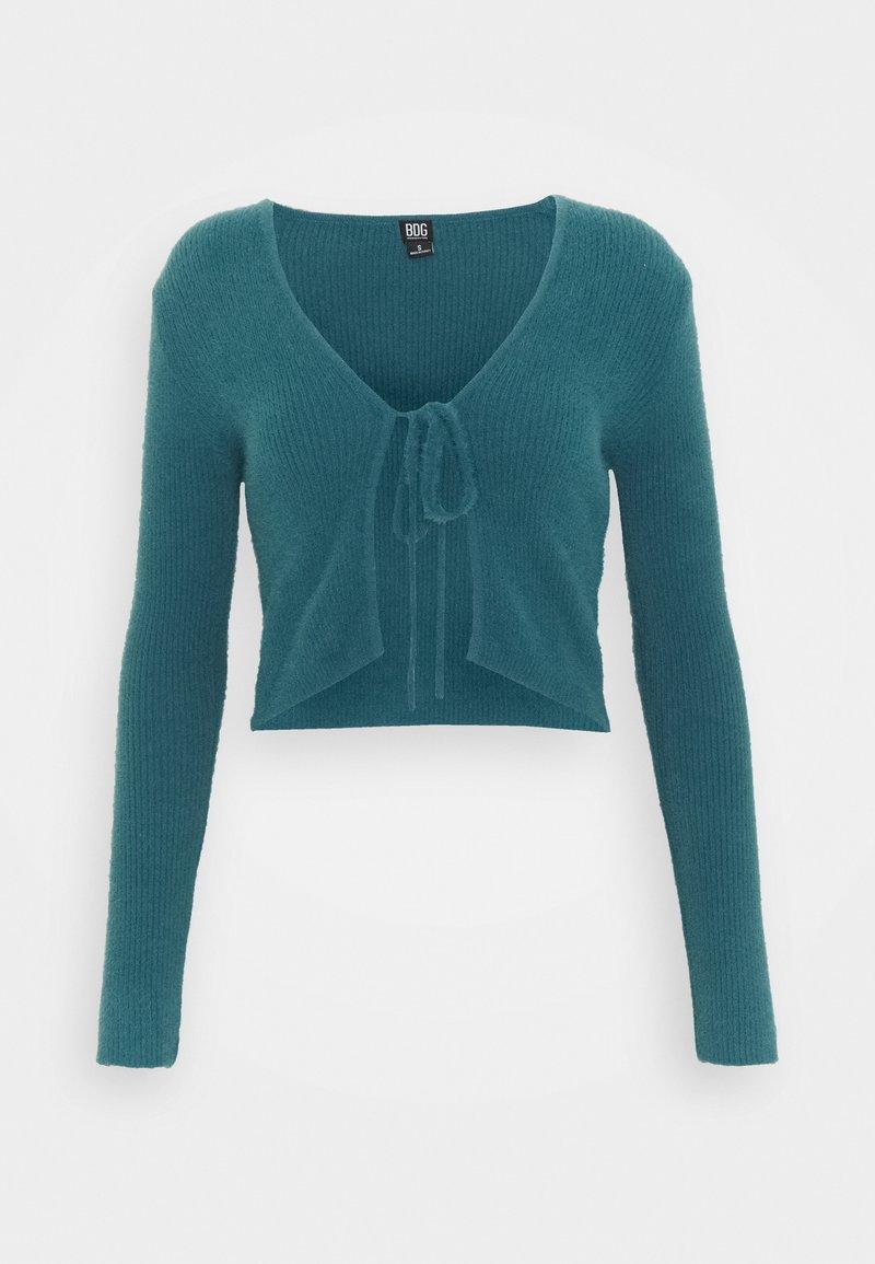 BDG Urban Outfitters - NOORI TIE FRONT CARDI - Vest - dark teal