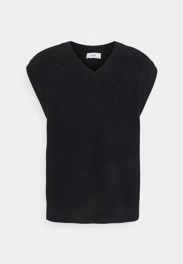 Stickad tröja - black navy
