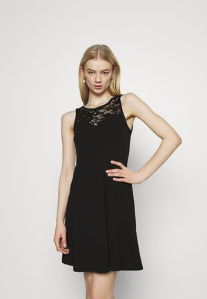 VMVALENTINA SWEETHEART DRESS - Sukienka koktajlowa - black