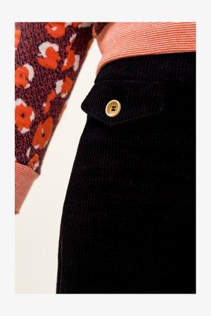 ALISA - A-line skirt - navyblau