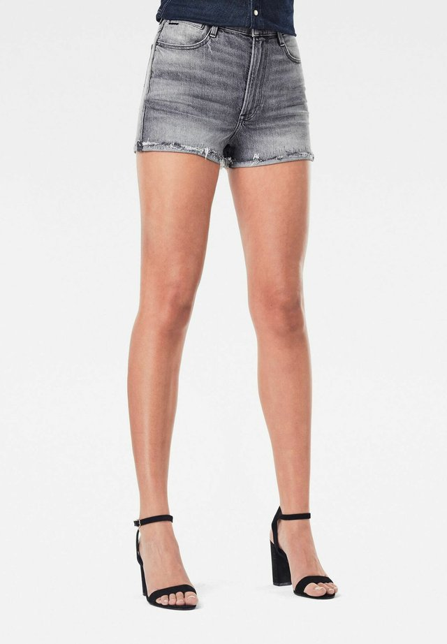 TEDIE RIPPED EDGE ULTRA HIGH - Jeansshort - faded anchor