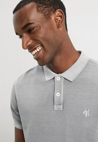 Marc O'Polo - SHORT SLEEVE BUTTON PLACKET - Polo - light grey - 4