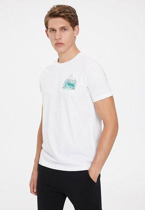 CACTUS - T-shirt print - white