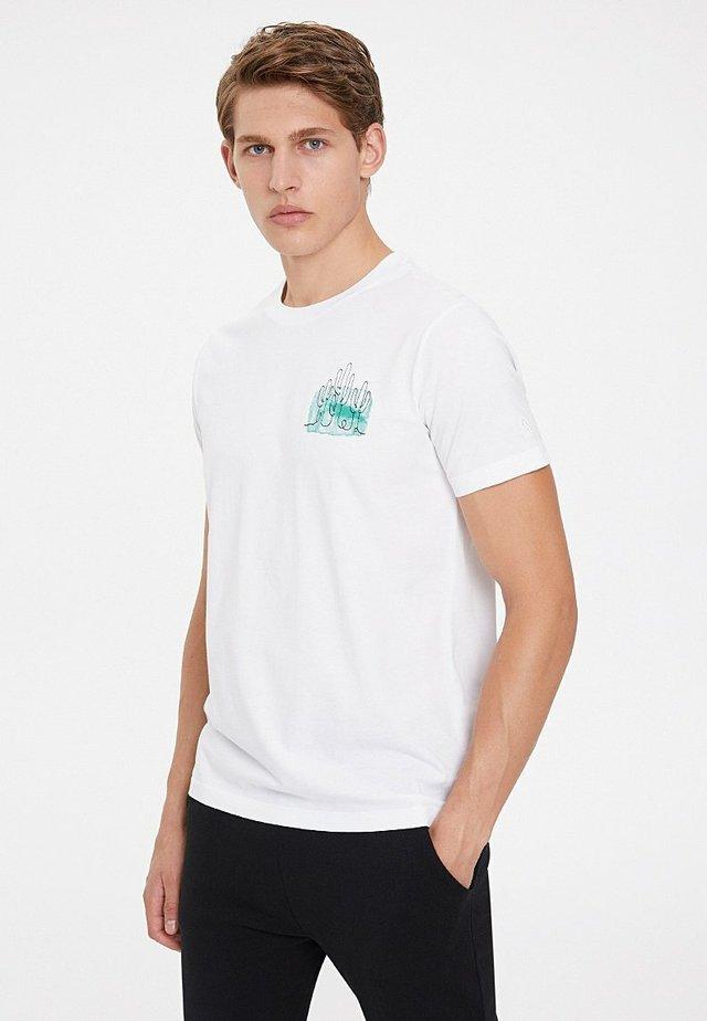 CACTUS - Print T-shirt - white