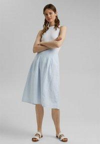 Esprit - A-line skirt - light blue - 1