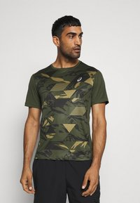 ASICS - FUTURE CAMO - T-shirts print - smog green - 0