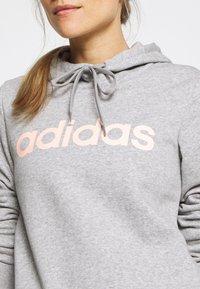 adidas Performance - Jersey con capucha - grey/pink - 4