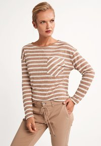 comma casual identity - Long sleeved top - brown stripes - 3