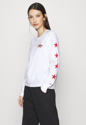 STAR SLEEVE LONGSLEEVE - Long sleeved top - white