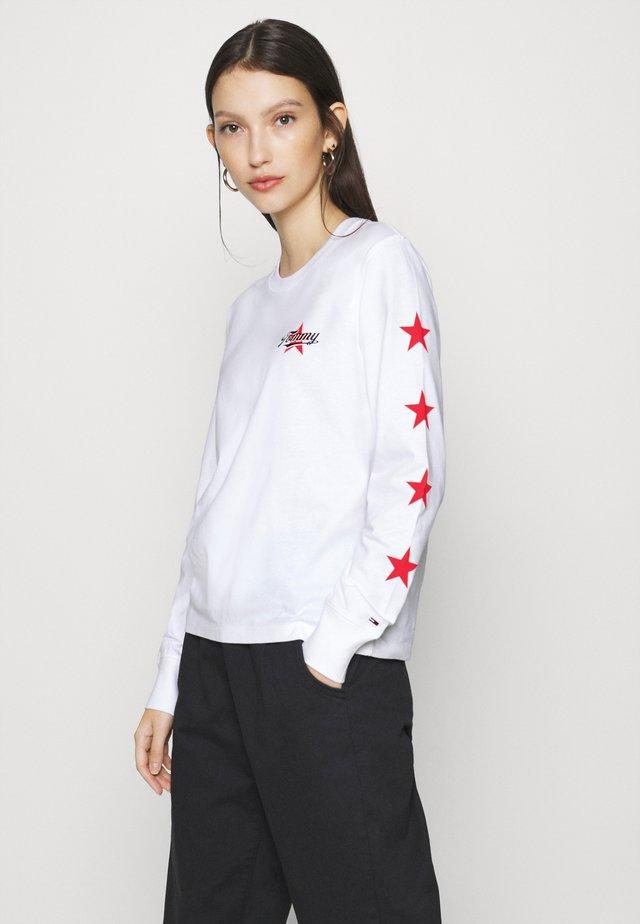 STAR SLEEVE LONGSLEEVE - Longsleeve - white