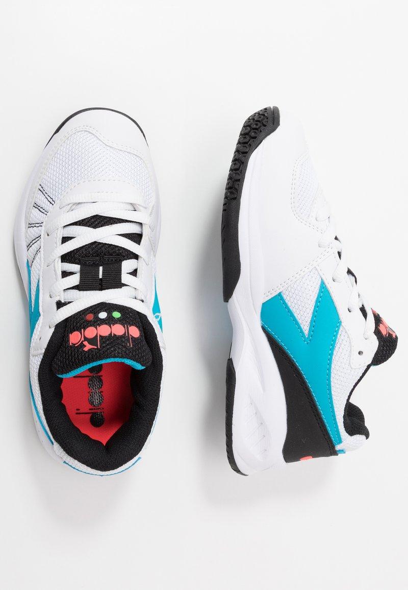 Diadora - S. CHALLENGE 3 JR UNISEX - Multicourt tennis shoes - white/blue fluo