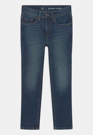 EASY TAPER  - Slim fit jeans - dark-blue denim