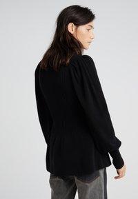 DESIGNERS REMIX - PERCY PEPLUM - Pullover - black - 2