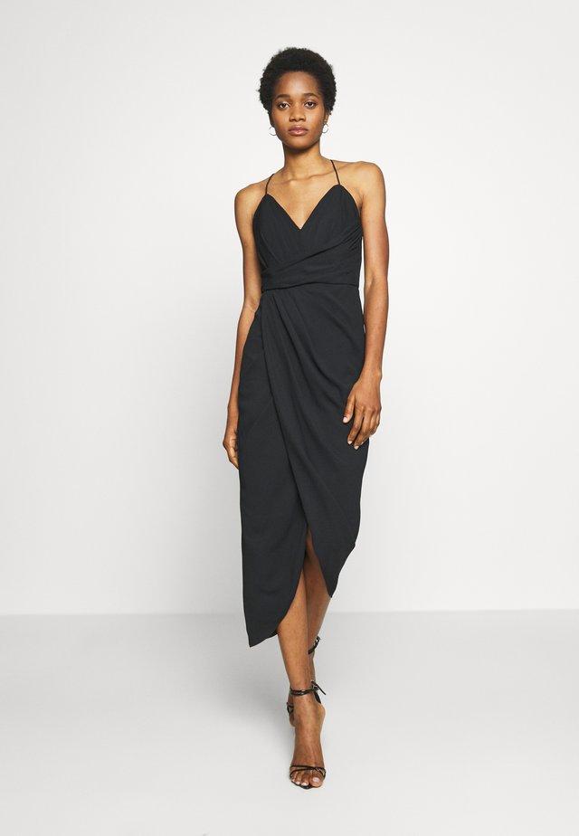 CHARLOTTE DRAPE DRESS - Freizeitkleid - black