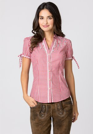 FLAVIA - Button-down blouse - red