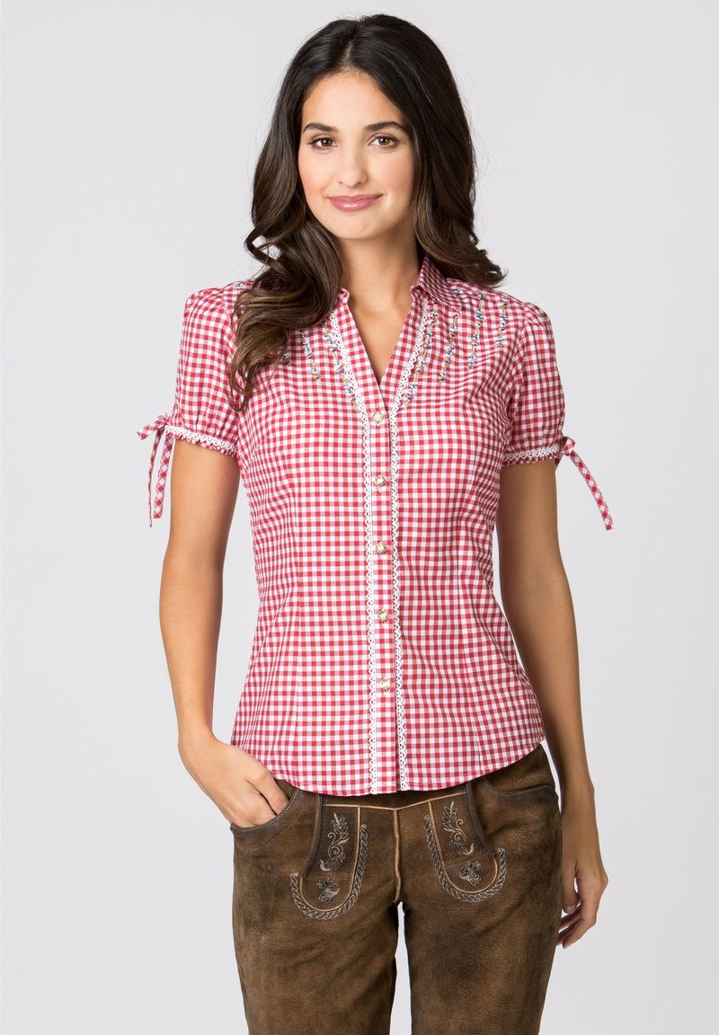 Stockerpoint - FLAVIA - Button-down blouse - red