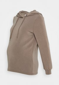 Pieces Maternity - PCMRISE HOODIE LOUNGE - Hoodie - taupe - 0