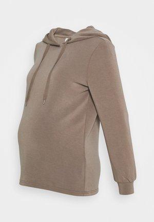 PCMRISE HOODIE LOUNGE - Sweatshirts - taupe