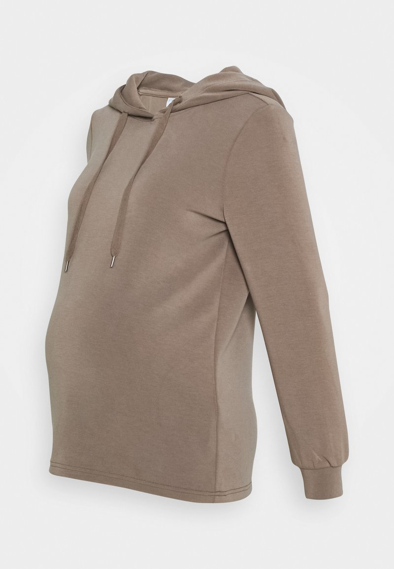 Pieces Maternity - PCMRISE HOODIE LOUNGE - Hoodie - taupe