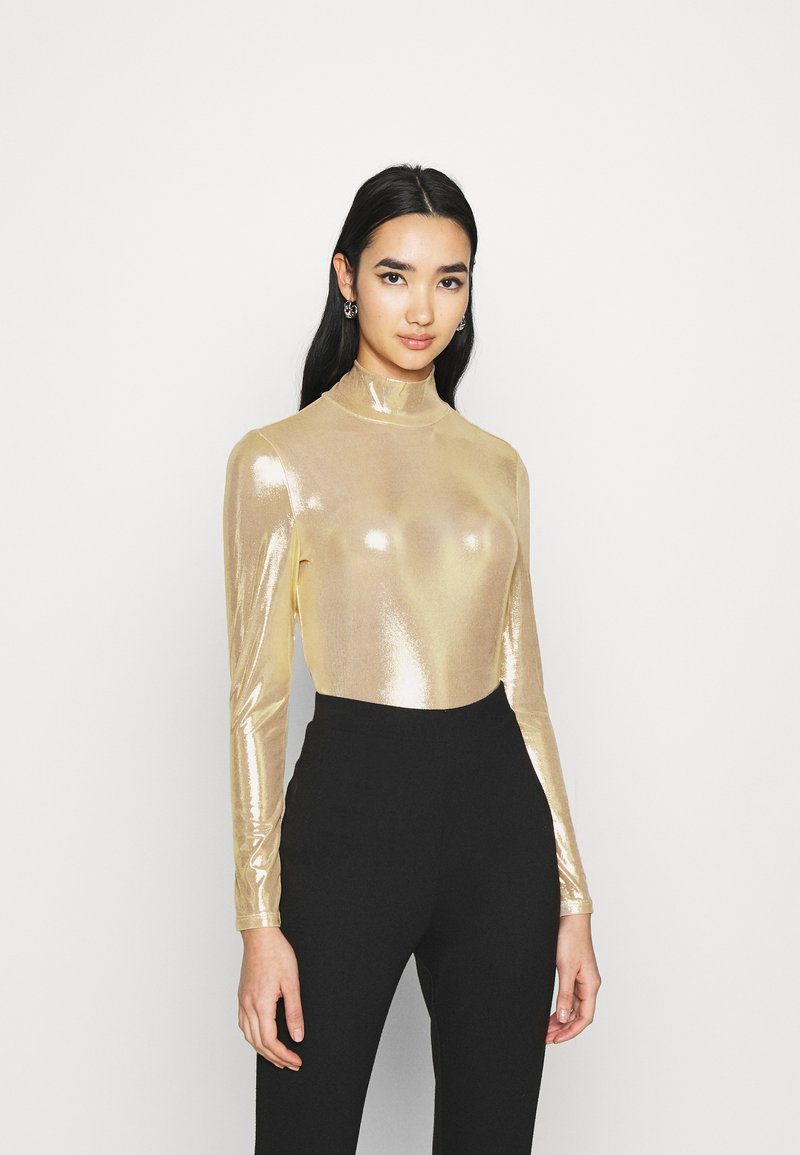 Monki - VANJA - Long sleeved top - yellow/gold