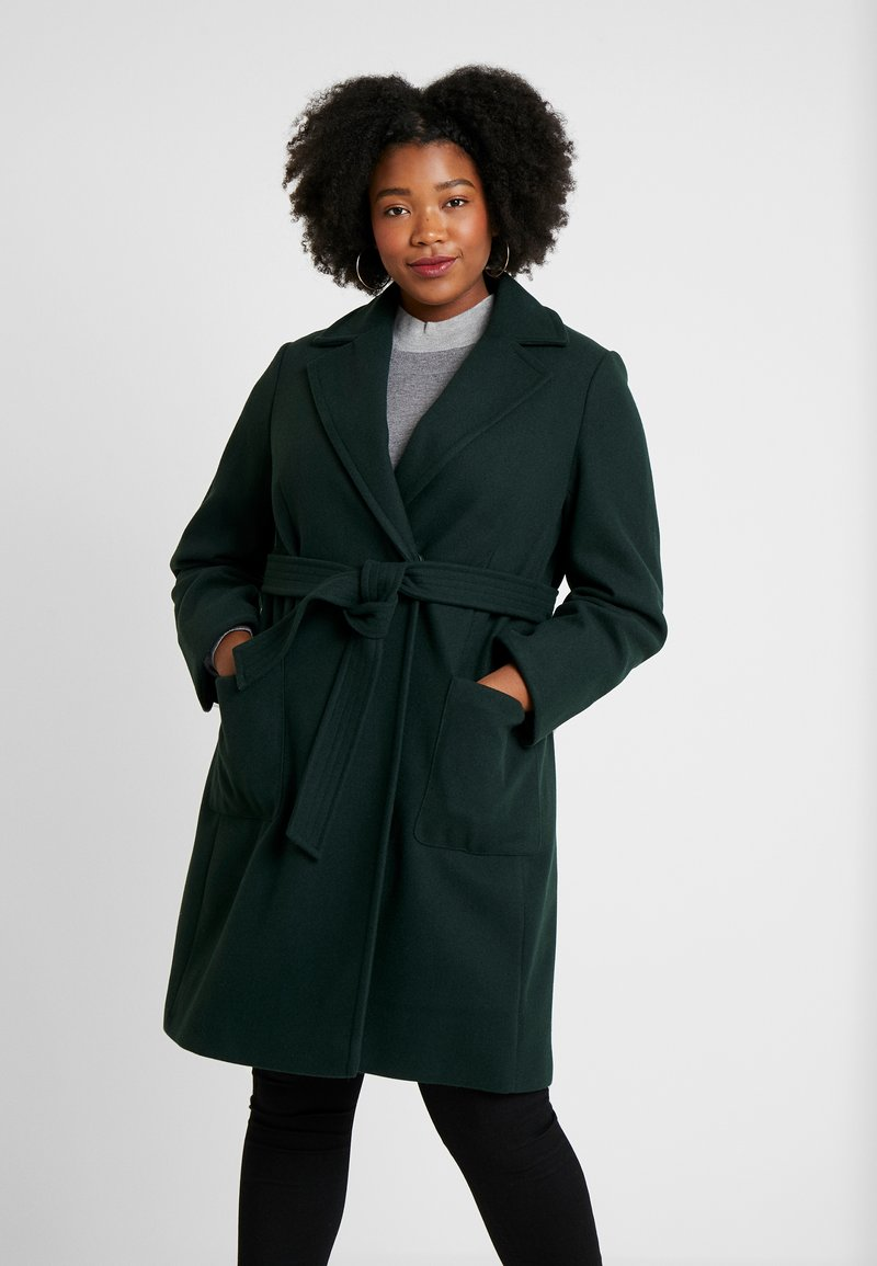 Dorothy Perkins Curve - PATCH POCKET WRAP - Manteau classique - green