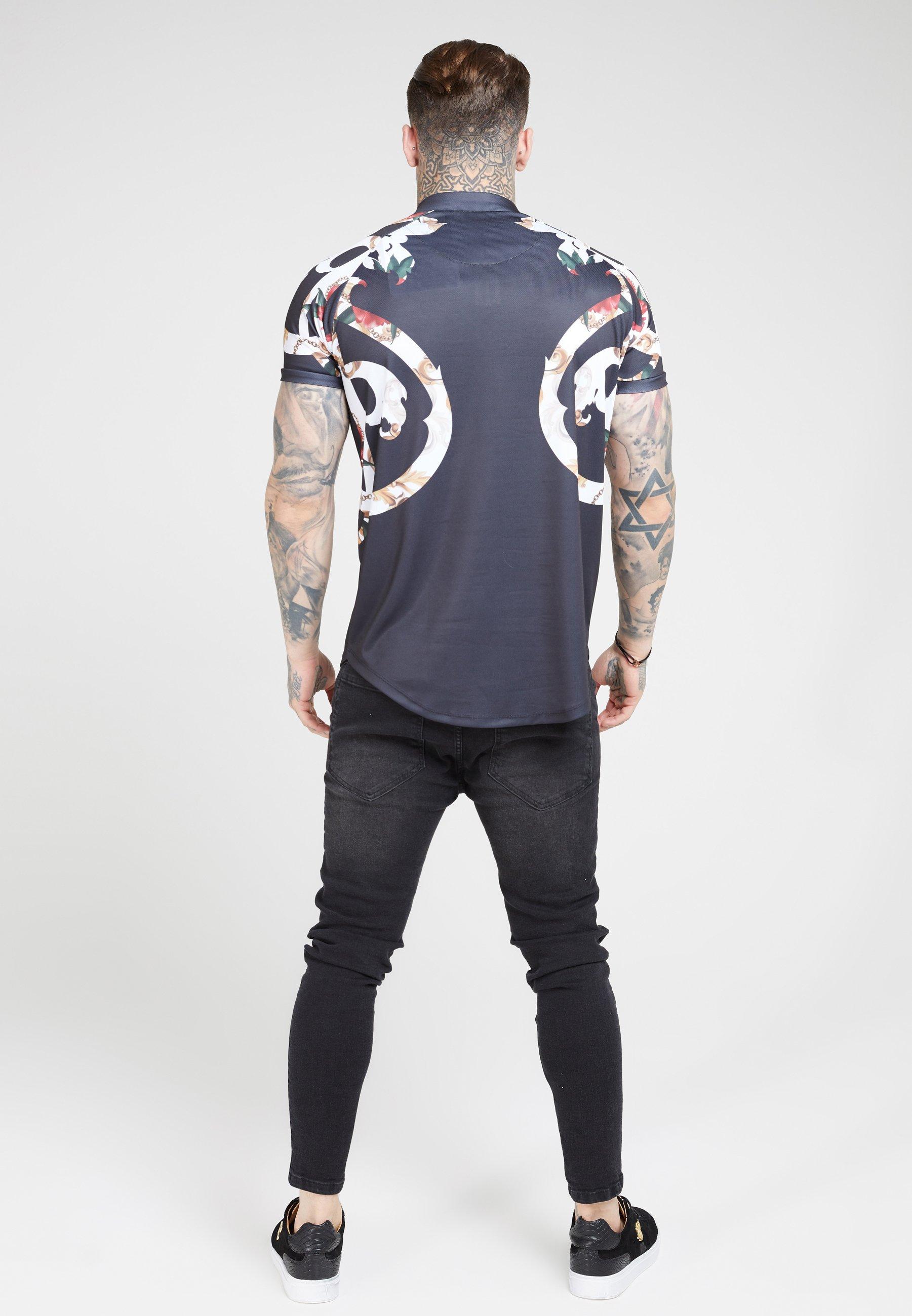 SIKSILK Print T-shirt - jet black N3vfi