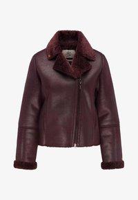 Petrol Industries - Faux leather jacket - zinfandel - 4