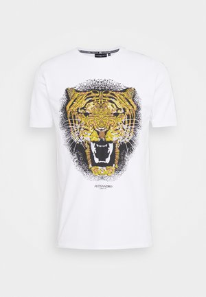 GROWLER - Print T-shirt - white/gold