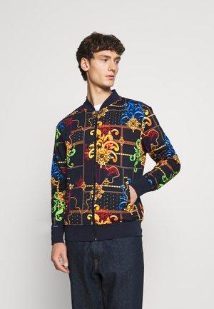 UNISEX - Zip-up sweatshirt - navy