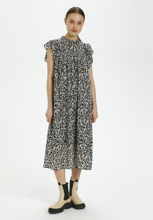 Day dress - preppy animal black