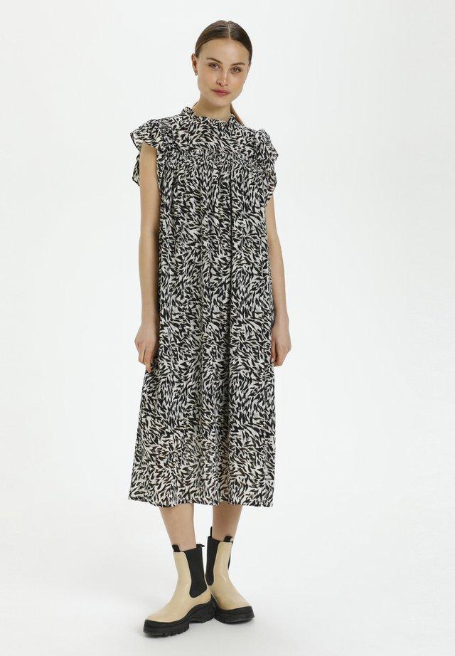 Korte jurk - preppy animal black
