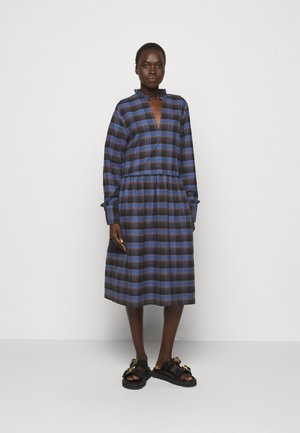 ALLEY DRESS - Day dress - royal blue check