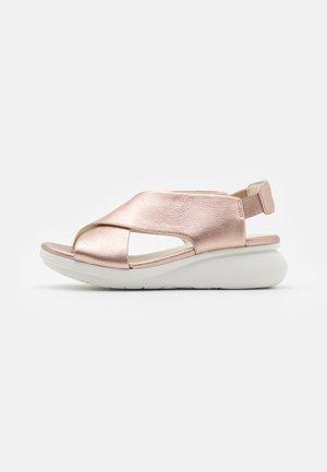 BALLOON - Platform sandals - rose gold