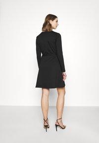 Object - OBJSAVA L/S V-NECK NOOS - Day dress - black - 2