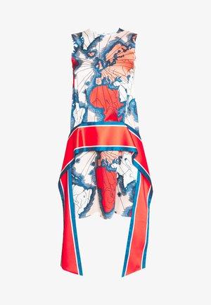 MAP PRINT SCARF DRESS - Day dress - red/multi