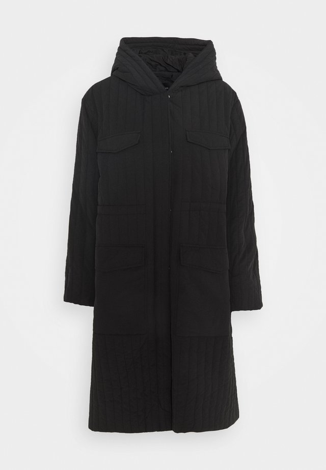 SLFLORY QUILTED COAT - Cappotto classico - black