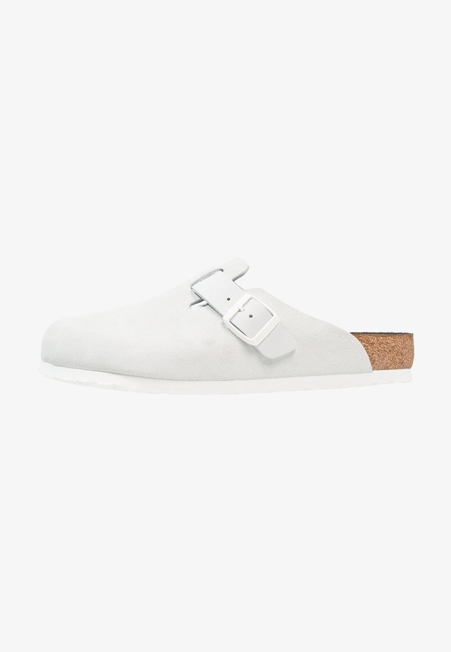 BOSTON - Slippers - asphalt offwhite