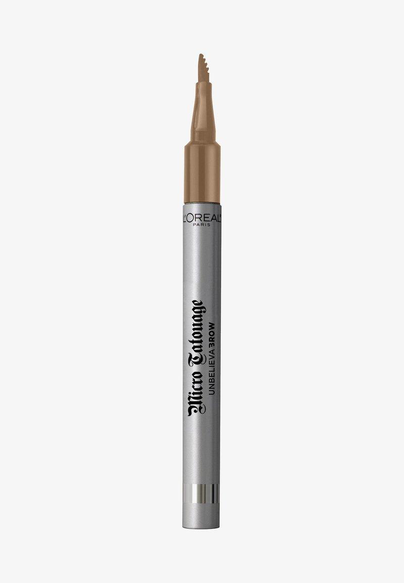 L'Oréal Paris - UNBELIEVA BROW MICRO TATOUAGE - Eyebrow pencil - 101 blonde