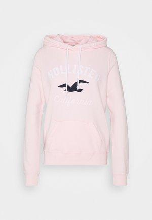 TERRY TECH CORE - Bluza z kapturem - pink