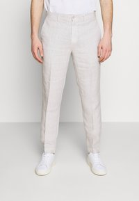 120% Lino - TAILORED TROUSERS - Kalhoty - turtle soft fade - 0