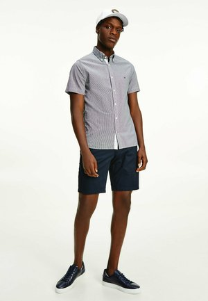 SLIM FIT - Shirt - black / white
