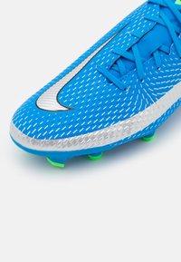 Nike Performance - PHANTOM GT ACADEMY FG/MG - Moulded stud football boots - photo blue/metallic silver/rage green - 5