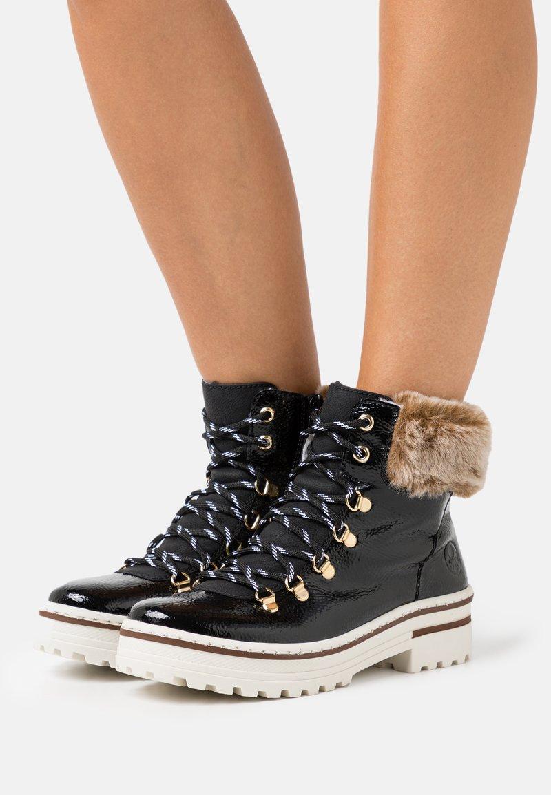 Rieker - Winter boots - black/steppe