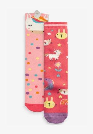 2 PACK UNICORN WELLY - Socks - pink, light red
