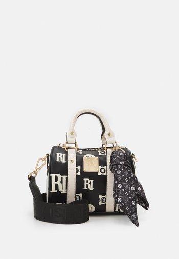 EMBOSS AND PRINTED BOWLER - Handbag - black