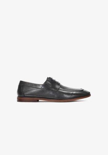 REKKER - Elegantní šněrovací boty - Black